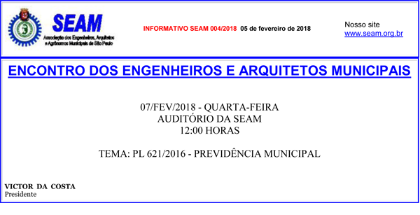 004 – ENCONTRO DOS ENGENHEIROS E ARQUITETOS MUNICIPAIS