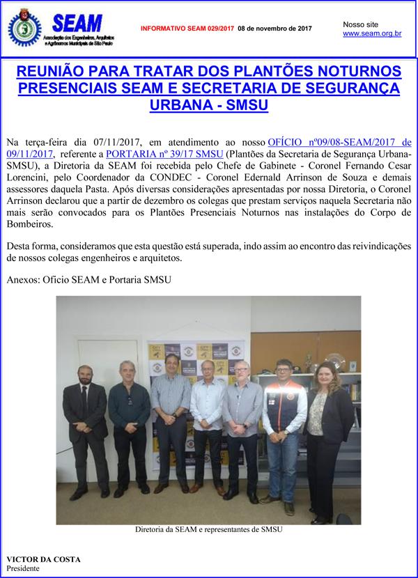 029 – INFORMATIVO SEAM 029/2017
