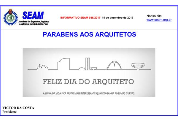 036 – Dia do Arquiteto