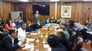 072 2014 – Em Reunião nesta terça-feira do Colégio de Líderes da CMSP, foi deliberado pela não votação do PLO 03/2014 na Sessão Plenária