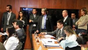 Sala de reunião da CCJ