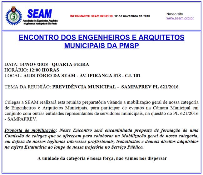 28 – ENCONTRO DOS ENGENHEIROS E ARQUITETOS MUNICIPAIS DA PMSP