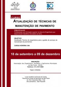 059 2014 – CURSO: Atualização de Técnicas de Manutenção de Pavimento