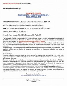 011-2010  PEC 555: Convocação de Frente Nacional para Aprovação
