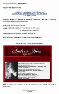 013-2010  PEC 555: Frente Nacional; Show Andrea Bien no Instituto de Engenharia