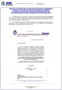 024-2010  SEAM oficia Secretário da Gestão: Leis 14591/2007 e Decr 51566/2010