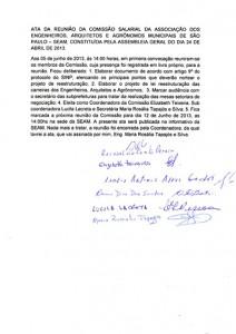 020-2013Ata da 1ª reunião da Comissão Salarial da SEAM de 05/06/2013