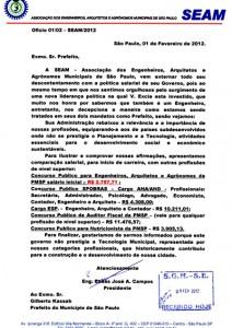 003-2012  SEAM Encaminha oficio criticando a política salarial