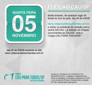 078 2014 – Eleições do CAU/SP – Dia 05/11/2014