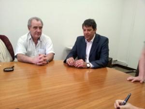 Vice-presidente da SEAM eng. D'Amaro, Prefeito Fernando Haddad e Secretária Leda Paulani
