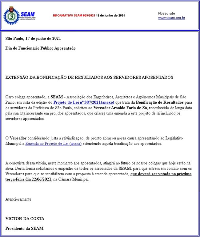 009 – EXTENSÃO DA BONIFICAÇÃO DE RESULTADOS AOS SERVIDORES APOSENTADOS