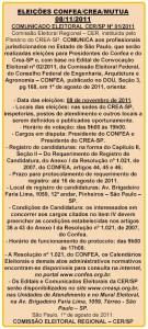 032-2011  Eleições CONFEA/CREA/MUTUA