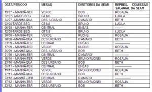 024-2013Estabelecida agenda das mesas setoriais de negociação