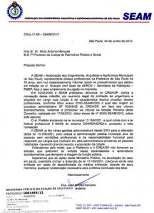 022-2012  SEAM representa junto ao MP, contra o exercício ilegal da profissão