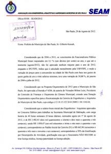 029-2012  SEAM protocola oficio junto ao gabinete do prefeito