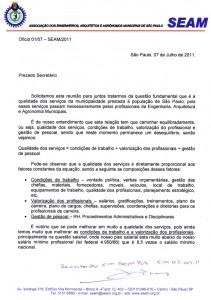 025-2011  Em audiência com o Secretário da Gestão, a Diretoria da SEAM entrega oficio com Reivindicações Salariais