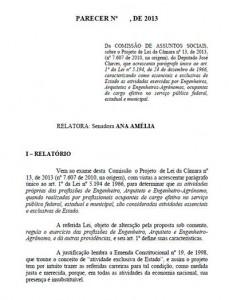 025-2013 Projeto de Lei da Carreira de Estado – PLC 13/2013